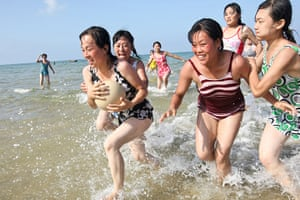 North Korea: North Koreans at a public beach on the east coast close to Wonsan