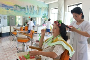 North Korea: A beauty parlour in Wonsan