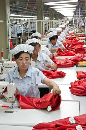North Korea: Workers at the Kaesong Industrial Complex, a venture between the two Koreas