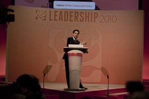 Labour party conference: Ed Miliband makes a speech after he was elected the new Labour leader