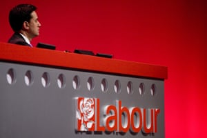 Labour party conference: The new leader of the Labour Party Ed Miliband attends the opening session