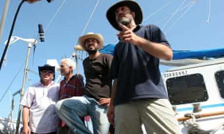 Jewish activists aboard the catamaran Irene