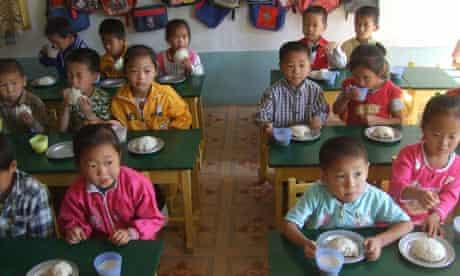 Schoolchildren in North Korea