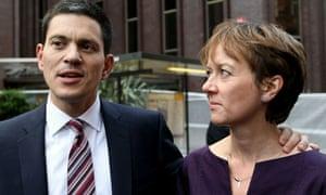 David Miliband and Louise Shackleton