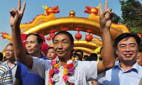 Zhan Qixiong welcomed home
