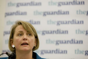 Labour party: Yvette Cooper speaks at The Guardian fringe debate