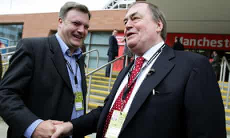 Ed Balls and John Prescott Labour Party annual party conference 2010
