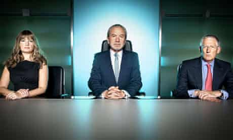 Lord Alan Sugar, Karren Brady and Nick Hewer from The Apprentice series 6.