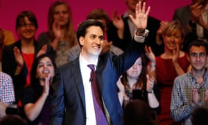 Ed Miliband after making his first speech as Labour Party leader