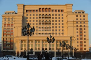 Moscow: The reconstructed hotel Moskva in downtown central Moscow
