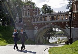 Moscow: Russian President Vladimir Putin  (R) an