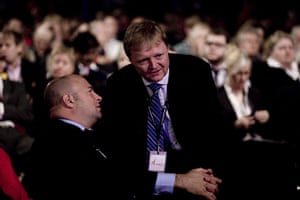 Labour party conference: Stuart Wood, right, Ed Miliband's policy advisor