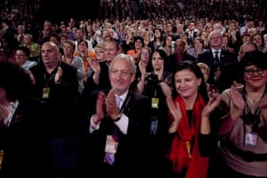 Labour party conference: Delegates, including Tracey Ullman applaud Ed Miliband's speech