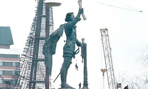 The statue of Peter the Great in the centre of Moscow.
