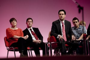 Labour party conference: Party leader Ed Miliband during a Q&A session at the Labour conference