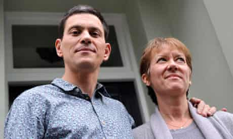 David Miliband, pictured with his wife, Louise, said he would not stand for the shadow cabinet