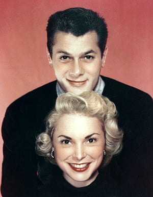 Tony Curtis: Tony Curtis with his wife Janet Leigh in 1954