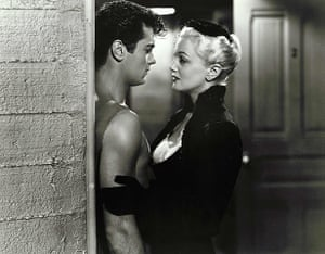 Tony Curtis: Tony Curtis and Jan Sterling in Flesh and Fury, 1952