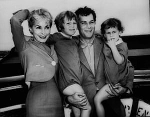 Tony Curtis: Tony Curtis and Janet Leigh with their children, Kelly 5, and Jamie, 2