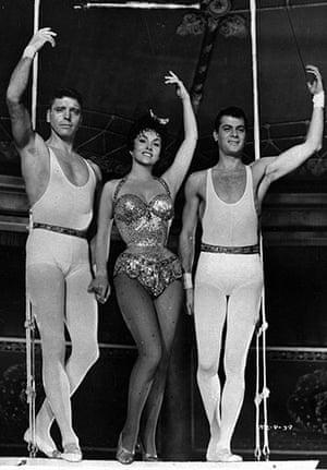 Tony Curtis: Burt Lancaster, Gina Lollobrigida and Tony Curtis, in Trapeze