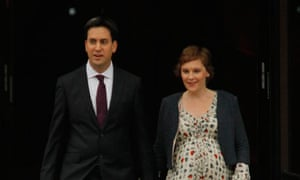 Ed Miliband and Justine Thornton at Labour conference 2010