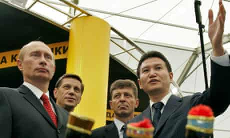 Kirsan Ilyumzhinov with President Putin