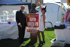 Agatha Christie festival: A Poirot lookalike