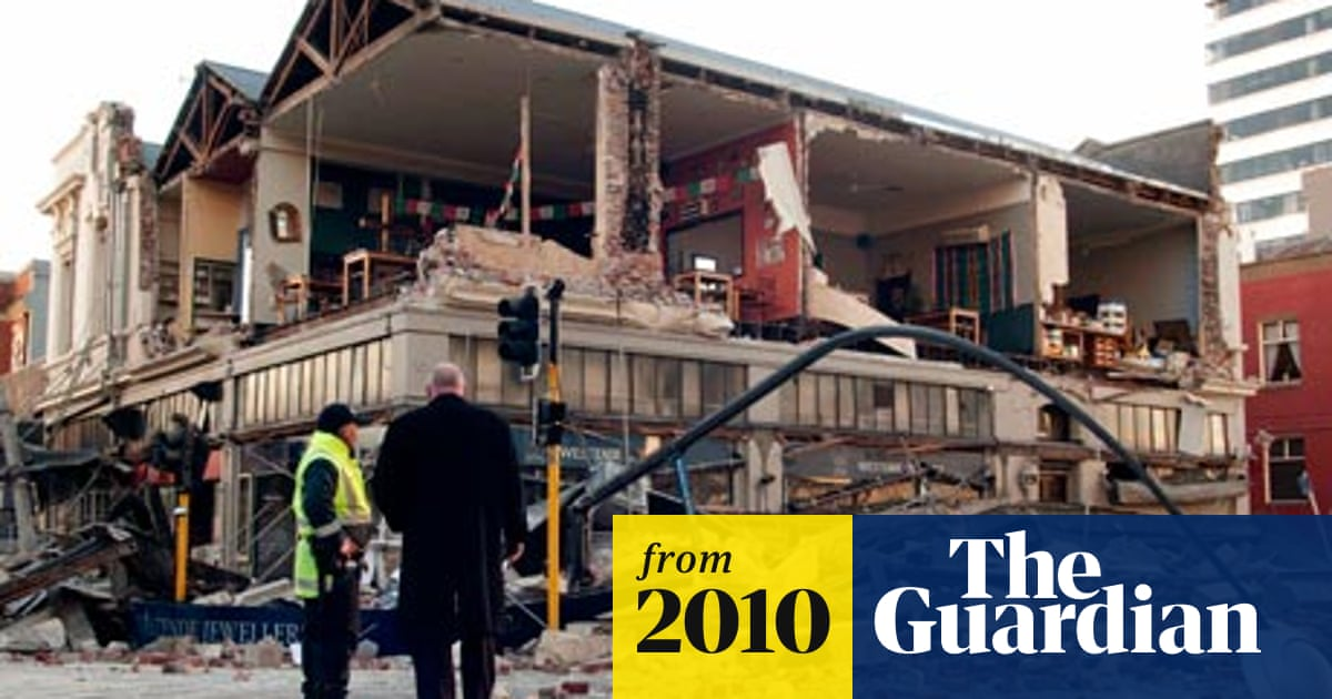 Earthquake Strikes Christchurch In New Zealand New Zealand The Guardian