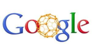 Google Doodle of a buckyball