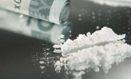 Cocaine and a rolled note