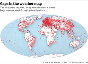 Weather stations map