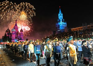24 Hours: Participants attend the Spasskaya Tower international festival in Moscow