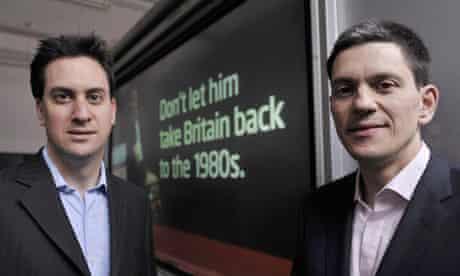 Labour leadership contest - David and Ed Miliband
