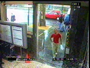 CCTV Gareth Williams: Gareth Williams at Holland Park Tube station