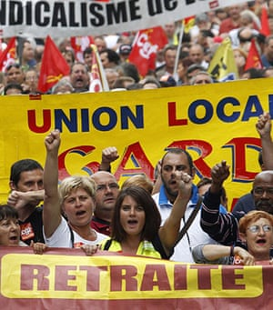 French Strikes: Private and public sector workers demonstrate over pension reforms