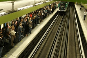 French Strikes: French commuters wait at Gare Du Nord