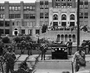 Little Rock: Fed.Troops @ School Where Blacks Will Go