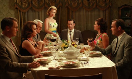 Mad Men: Betty and Don Draper throw a dinner party