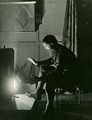 George Bernard Shaw: Self-portrait of playwright George Bernard Shaw experimenting with light