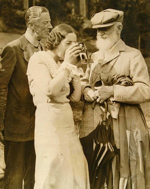 George Bernard Shaw: Ellen Pollock holds a camera to her eye as Shaw looks on