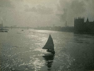 George Bernard Shaw: View of a sailing boat on the river