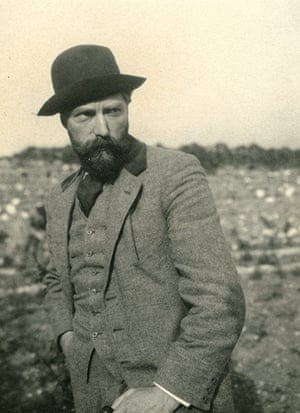 George Bernard Shaw: Portrait of Augustus John, taken at The Burren landscape