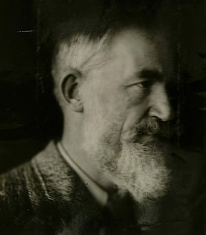 George Bernard Shaw: Self portrait taken with a telephoto lens