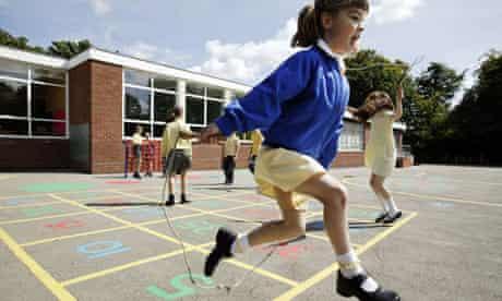 girls playing school