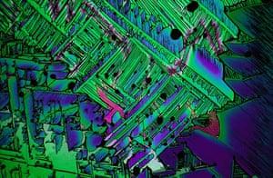 Bike blog:  Sulphur crystals from melt