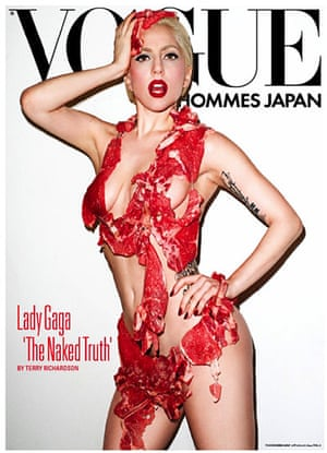Wearing meat: Lady Gaga wearing meat