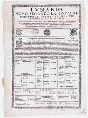 Secret Archives Vatican: The Gregorian Calendar and the Lunario Novo of 1582