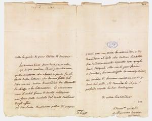 Secret Archives Vatican: Voltaire's letter to Pope Benedict XIV, 1745