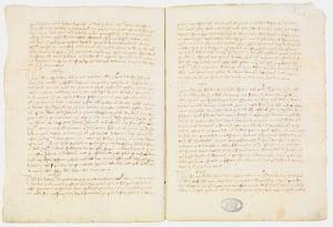 Secret Archives Vatican: Papal dispensation for Giovanni Boccaccio, 1360