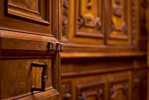 Secret Archives Vatican: Close-up of the door